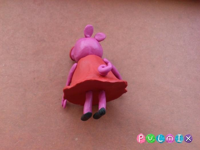 Как слепить свинку Пеппу из пластилина поэтапно - шаг 12