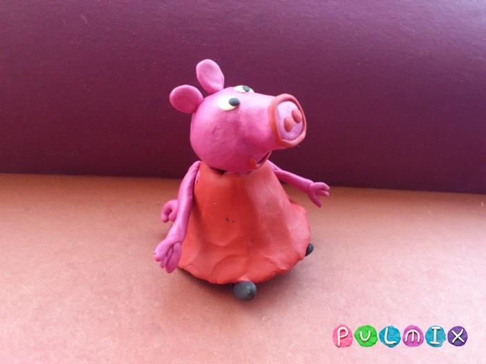 Как слепить свинку Пеппу из пластилина поэтапно - шаг 13