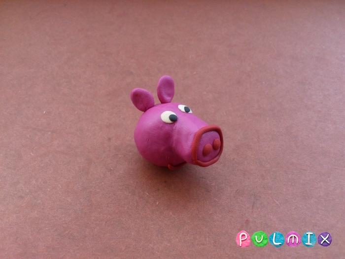Как слепить свинку Пеппу из пластилина поэтапно - шаг 8