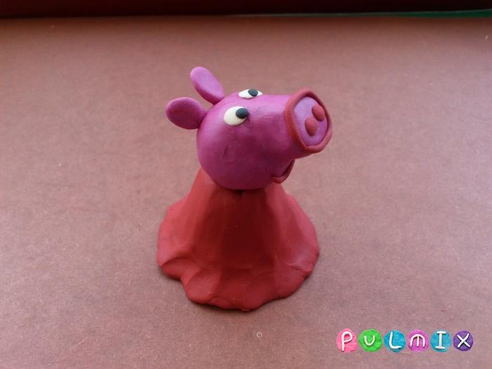 Как слепить свинку Пеппу из пластилина поэтапно - шаг 9