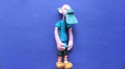 Как слепить Тихона - героя мультфильмов о трех богатырях из пластилина поэтапно
