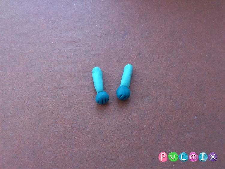Как слепить зайчика Littlest Pet Shop из пластилина - шаг 13