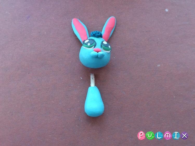 Как слепить зайчика Littlest Pet Shop из пластилина - шаг 9