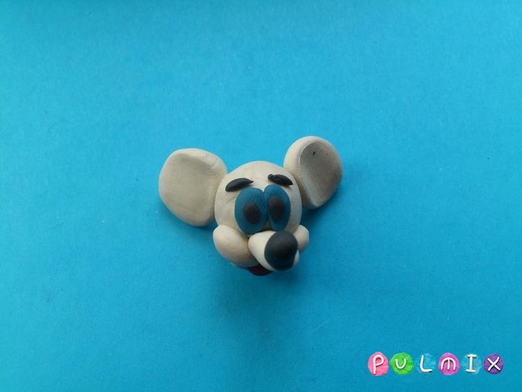 Лепим из пластилина белую мышку из мульт-ма Кот Леопольд - шаг 10