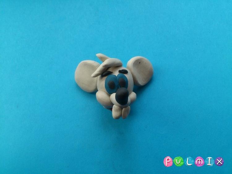 Лепим из пластилина белую мышку из мульт-ма Кот Леопольд - шаг 11