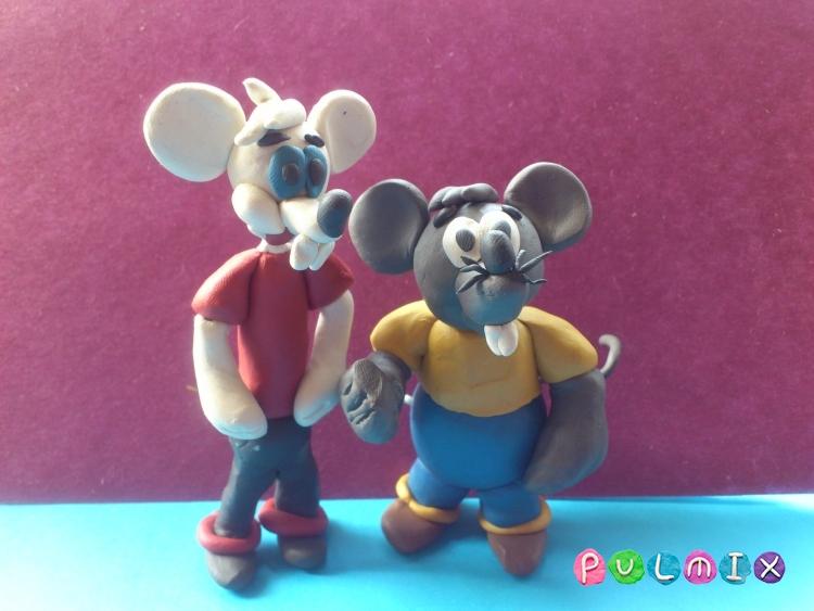 Лепим из пластилина белую мышку из мульт-ма Кот Леопольд - шаг 14