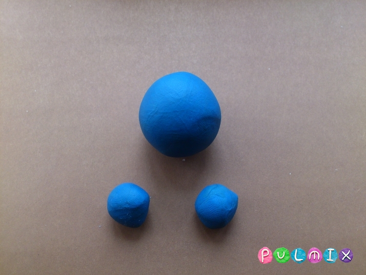 Лепим из пластилина серую мышку из мульт-ма Кот Леопольд - шаг 1