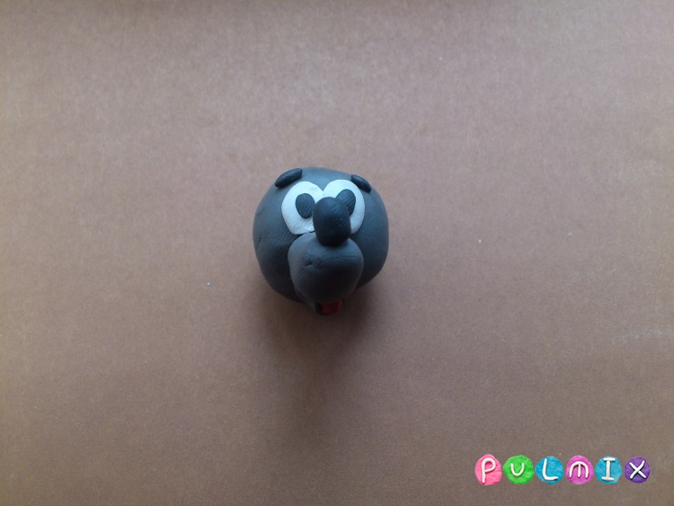 Лепим из пластилина серую мышку из мульт-ма Кот Леопольд - шаг 10