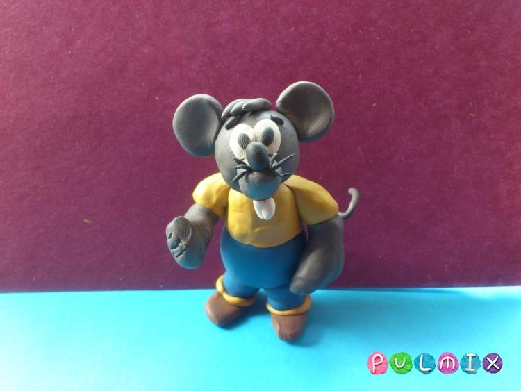 Лепим из пластилина серую мышку из мульт-ма Кот Леопольд - шаг 15