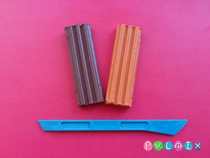 Лосяш из пластилина поэтапный урок - шаг 1