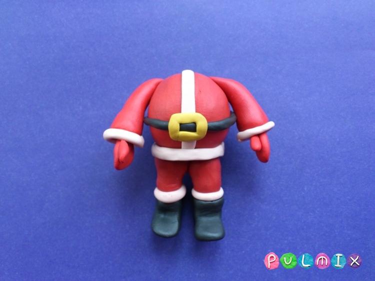Как сделать Санта-Клауса из пластилина поэтапно - шаг 12