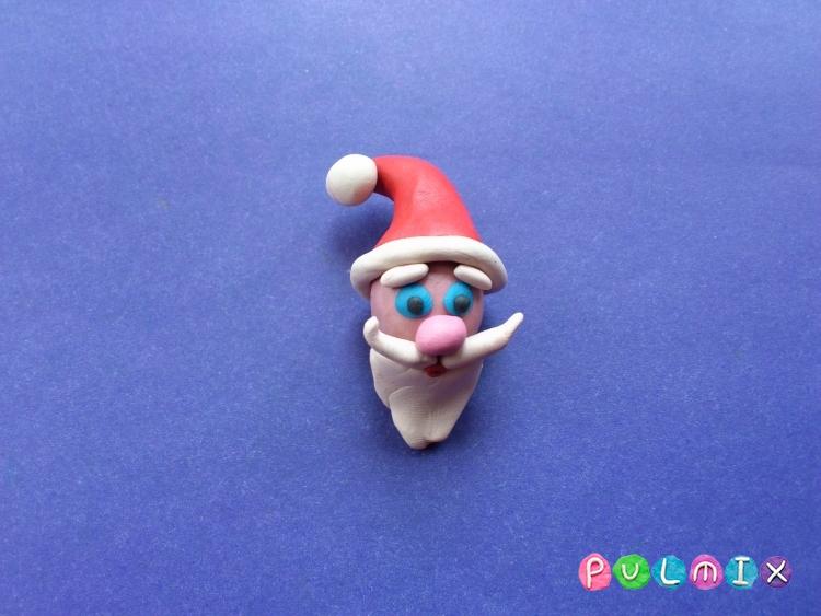 Как сделать Санта-Клауса из пластилина поэтапно - шаг 17