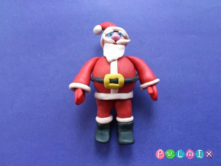 Как сделать Санта-Клауса из пластилина поэтапно - шаг 18