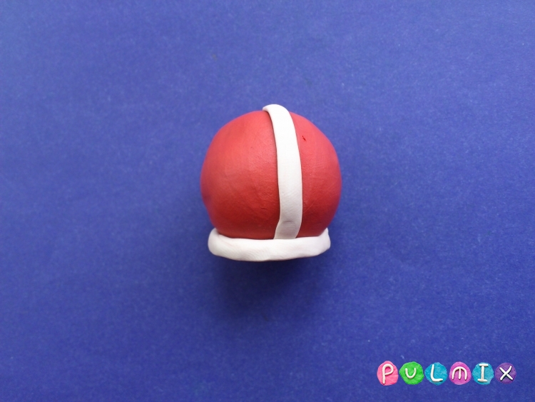 Как сделать Санта-Клауса из пластилина поэтапно - шаг 3