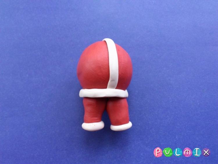 Как сделать Санта-Клауса из пластилина поэтапно - шаг 6