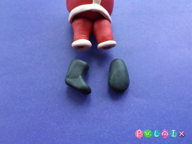Как сделать Санта-Клауса из пластилина поэтапно - шаг 7