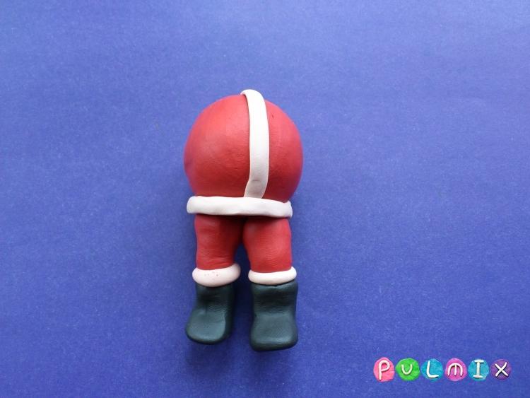 Как сделать Санта-Клауса из пластилина поэтапно - шаг 8