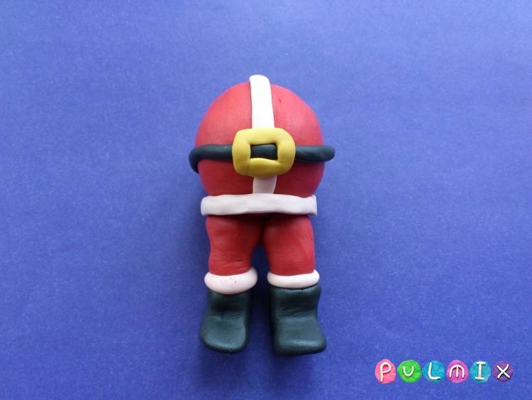 Как сделать Санта-Клауса из пластилина поэтапно - шаг 9