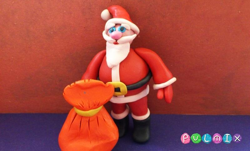 Как сделать Санта-Клауса из пластилина поэтапно