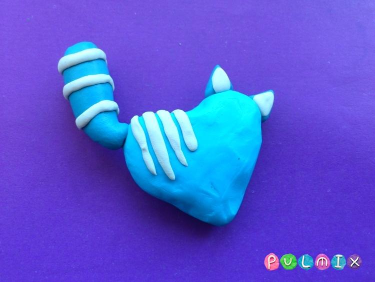 Как слепить котенка-валентинку из пластилина своими руками - шаг 4