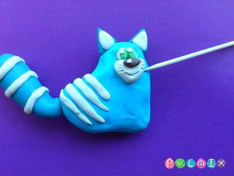 Как слепить котенка-валентинку из пластилина своими руками - шаг 6