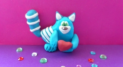 Лепка котенка-валентинки  своими руками