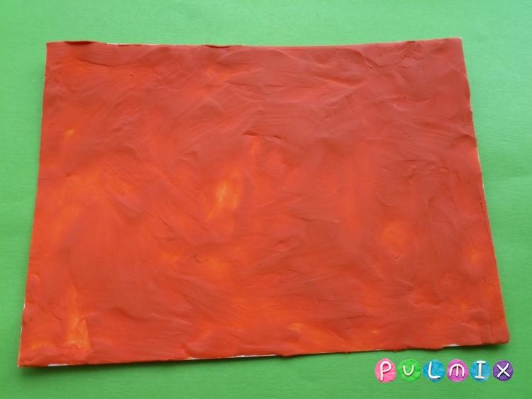 Как слепить открытку валентинку из пластилина своими руками - шаг 1