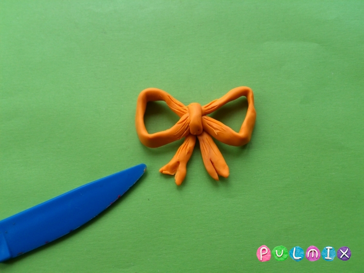 Как слепить открытку валентинку из пластилина своими руками - шаг 8