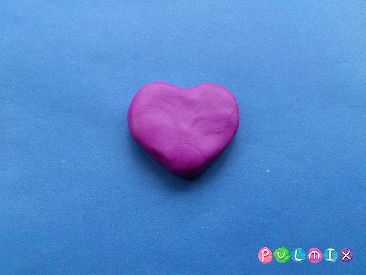 Как слепить сердечко валентинку с розами - шаг 2