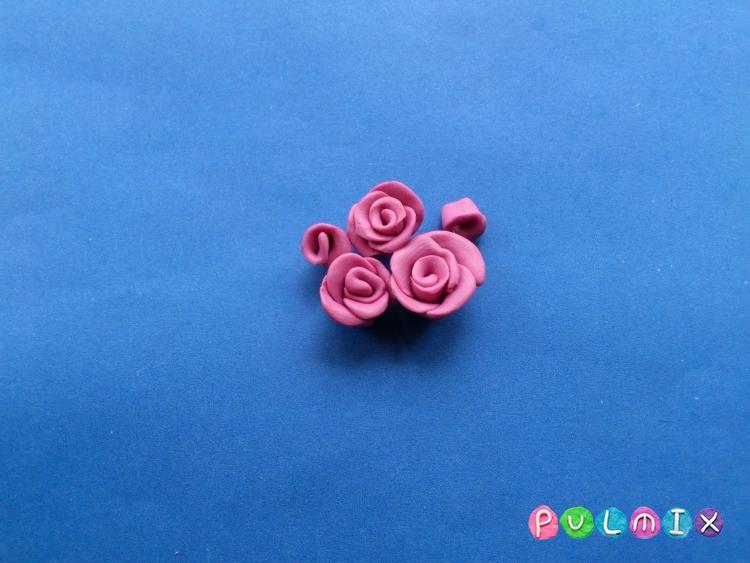 Как слепить сердечко валентинку с розами - шаг 4