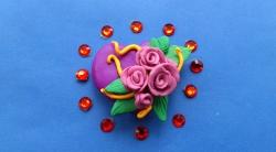 Как слепить сердечко с розами ко Дню святого Валентина своими руками