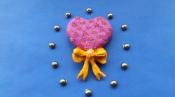 Как слепить  сувенир сердечко к 14 февраля