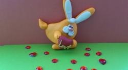 Лепка зайчика-валентинки