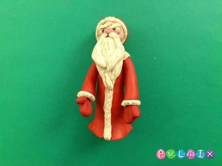 Как слепить Деда Мороза из пластилина поэтапно - шаг 14