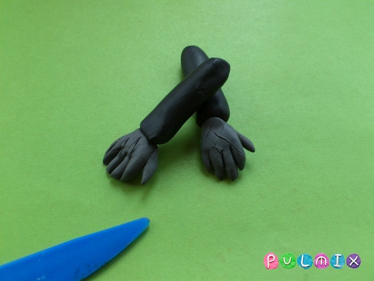 Как слепить Франкенштейна из пластилина поэтапно - шаг 8