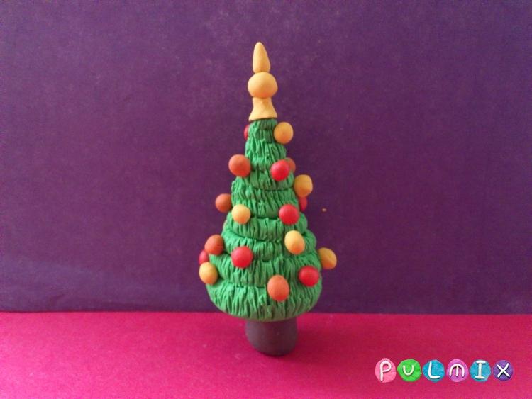 Как слепить новогоднюю елку из пластилина поэтапно - шаг 10