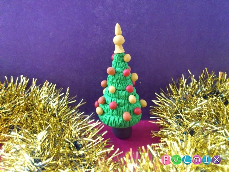 Как слепить новогоднюю елку из пластилина поэтапно - шаг 11