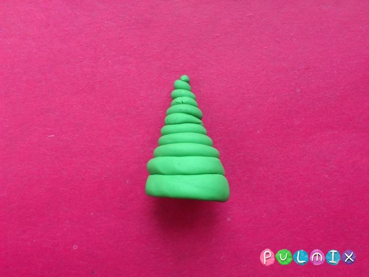 Как слепить новогоднюю елку из пластилина поэтапно - шаг 5
