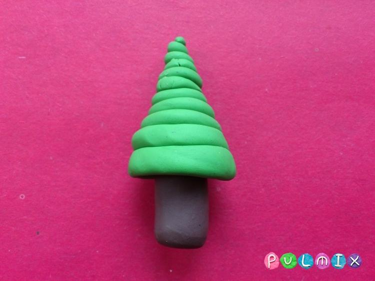 Как слепить новогоднюю елку из пластилина поэтапно - шаг 6