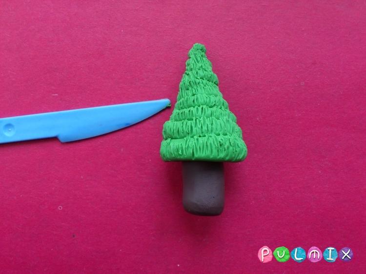 Как слепить новогоднюю елку из пластилина поэтапно - шаг 7