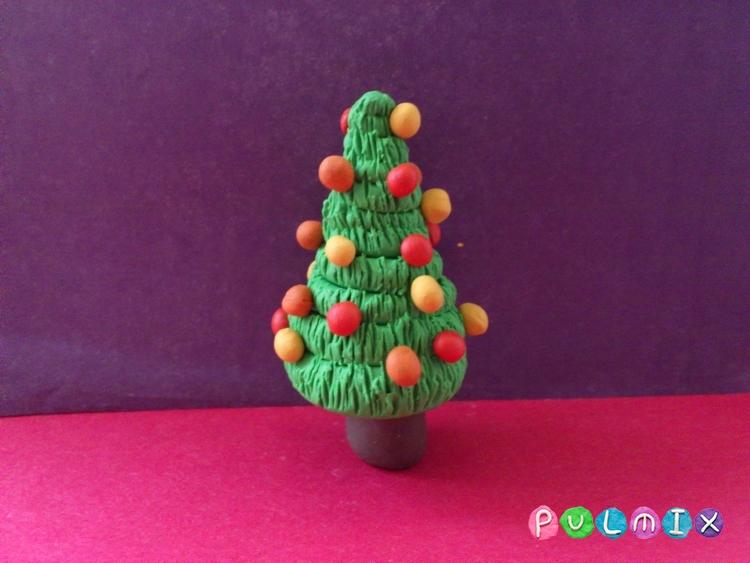 Как слепить новогоднюю елку из пластилина поэтапно - шаг 9