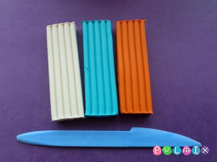 Как слепить снеговика из пластилина поэтапно - шаг 1