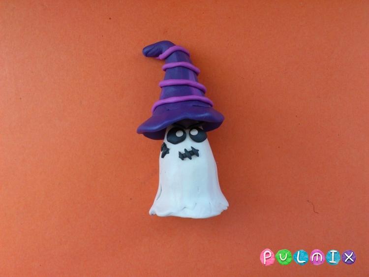 Лепка привидения на Хэллоуин из пластилина поэтапно - шаг 11