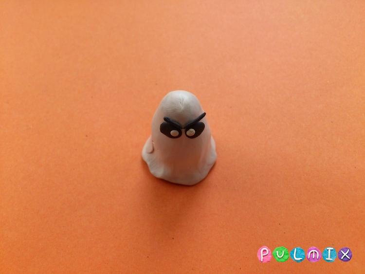 Лепка привидения на Хэллоуин из пластилина поэтапно - шаг 6