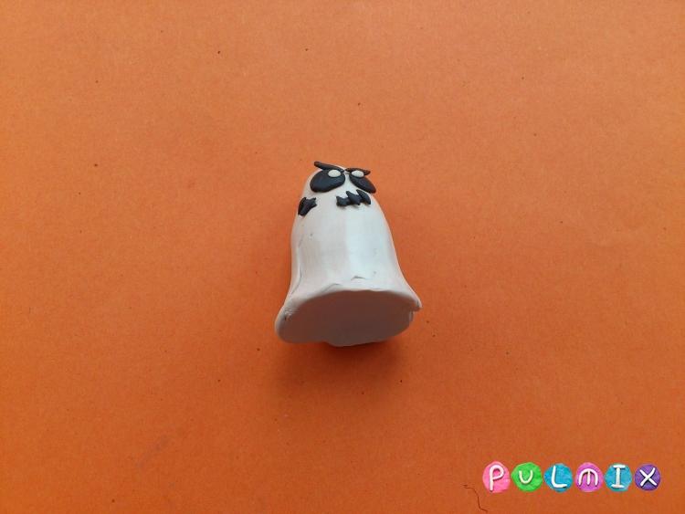 Лепка привидения на Хэллоуин из пластилина поэтапно - шаг 7