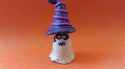 Лепка привидения на Хэллоуин из пластилина поэтапно