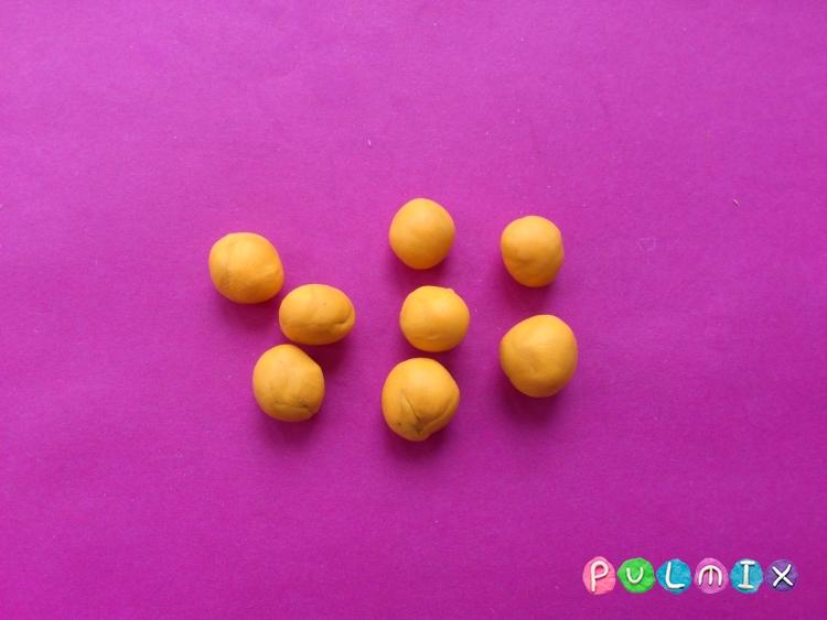 Как слепить апельсиновое дерево из пластилина - шаг 5