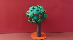 Как слепить дерево клен из пластилина своими руками поэтапно