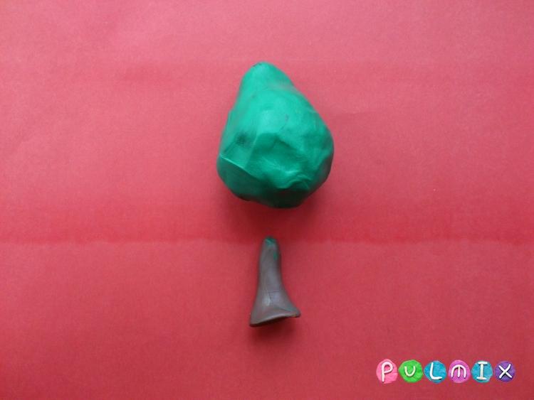 Как слепить липу из пластилина - шаг 2
