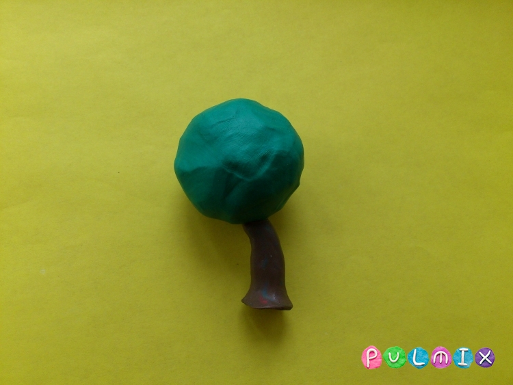 Как слепить рябину из пластилина - шаг 3